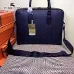 BURBERRY-0242 專櫃時尚新款牛皮配格調PVC男士手提公文包