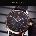 PARMIGIANI-04-9 全新男士土豪金配黑底316精鋼錶殼進口石英腕錶