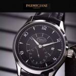 PARMIGIANI-04-3 全新男士閃亮銀配黑底316精鋼錶殼進口石英腕錶