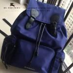 Burberry-0237 專櫃時尚新款原單材質牛皮配防水紡布男女式通用雙肩包