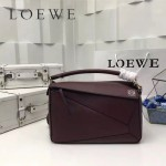 LOEWE 0160-01 專櫃時尚新款Puzzle Bag系列原版小牛皮手提單肩包