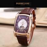 PARMIGIANI-02-6 潮流男士TOURBILLON系列土豪金配褐底飛輪設計自動機械腕錶