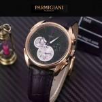 PARMIGIANI-08-4 新款Tonda Metrographe土豪金配黑色多功能計時進口石英腕錶