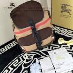 Burberry-0245 潮流時尚新款原版棉布搭配原版荔枝紋牛皮陳柏霖同款休閑書包