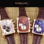 PARMIGIANI-09-5 商務男士土豪金配褐色礦物質強化玻璃瑞士9100機械腕錶