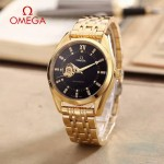 OMEGA-178-14 商務男士鏤空設計土豪金配黑底316精鋼錶殼全自動機械腕錶