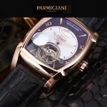 PARMIGIANI-05-7 爆款男士土豪金配白底天工甲版設計8N25自動機械腕錶