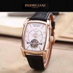 PARMIGIANI-02-7 潮流男士TOURBILLON系列土豪金配白底飛輪設計自動機械腕錶