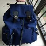 Burberry-0246-03 潮流時尚新款原單材質牛皮配防水紡布可以繡字大號雙肩包