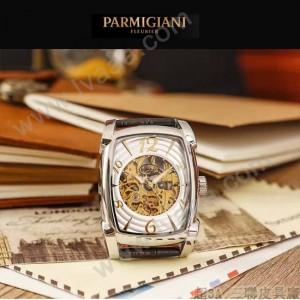 PARMIGIANI-03 型男必備礦物質強化玻璃雕花鏤空設計自動機械腕錶