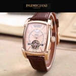 PARMIGIANI-02-4 潮流男士TOURBILLON系列土豪金配金底飛輪設計自動機械腕錶