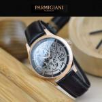 PARMIGIANI-07-7 時尚精品男士土豪金兩針設計全自動鏤空機械腕錶