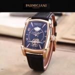 PARMIGIANI-02-5 潮流男士TOURBILLON系列土豪金配黑底飛輪設計自動機械腕錶