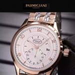 PARMIGIANI-04-11 全新男士間金系列配白底316精鋼錶殼進口石英腕錶