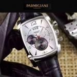 PARMIGIANI-09-8 商務男士閃亮銀配白色礦物質強化玻璃瑞士9100機械腕錶