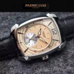 PARMIGIANI-011-4 商務男士閃亮銀配金底316精鋼錶殼全自動機械腕錶