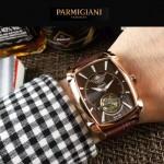 PARMIGIANI-010-4 潮流男士Kalpa系列土豪金配褐底拱形鍍膜玻璃自動機械腕錶