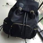 Burberry-0246 潮流時尚新款原單材質牛皮配防水紡布可以繡字大號雙肩包