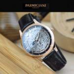 PARMIGIANI-07-4 時尚精品男士土豪金兩針設計全自動鏤空機械腕錶