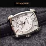 PARMIGIANI-011-6 商務男士閃亮銀配白底316精鋼錶殼全自動機械腕錶