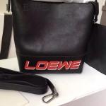 LOEWE 0236-01 專櫃走秀款T Bucket Bag系列進口原版小牛皮T形水桶包