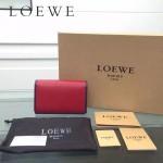 LOEWE 0132-01 人氣熱銷進口原版牛皮多卡位多隔層超大空間短夾錢包