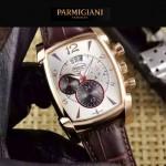 PARMIGIANI-09-9 商務男士土豪金配白色礦物質強化玻璃瑞士9100機械腕錶