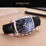 PARMIGIANI-01-9 商務男士兩針半系列閃亮銀配黑底進口石英腕錶