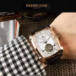 PARMIGIANI-010-2 潮流男士Kalpa系列土豪金配白底拱形鍍膜玻璃自動機械腕錶