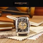 PARMIGIANI-03-2 型男必備礦物質強化玻璃雕花鏤空設計自動機械腕錶