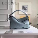 LOEWE 0160-08 專櫃時尚新款Puzzle Bag壓花系列原版小牛皮手提單肩包
