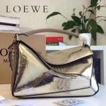 LOEWE 0160-014 專櫃時尚新款Puzzle Bag壓花系列原版小牛皮手提單肩包
