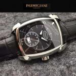 PARMIGIANI-011-5 商務男士閃亮銀配黑底316精鋼錶殼全自動機械腕錶