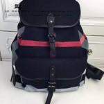 Burberry-0245-01 潮流時尚新款原版棉布搭配原版荔枝紋牛皮陳柏霖同款休閑書包