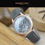 PARMIGIANI-07-10 時尚精品男士土豪金兩針設計全自動鏤空機械腕錶