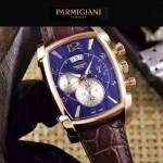 PARMIGIANI-09-7 商務男士土豪金配黑色礦物質強化玻璃瑞士9100機械腕錶