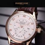 PARMIGIANI-04-6 全新男士土豪金配白底316精鋼錶殼進口石英腕錶