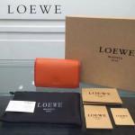 LOEWE 0132-03 人氣熱銷進口原版牛皮多卡位多隔層超大空間短夾錢包