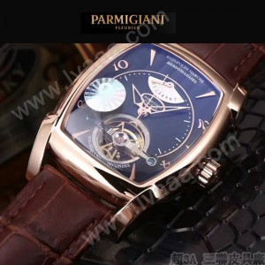 PARMIGIANI-05-8 爆款男士土豪金配黑底天工甲版設計8N25自動機械腕錶