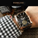 PARMIGIANI-010-5 潮流男士Kalpa系列土豪金配黑底拱形鍍膜玻璃自動機械腕錶