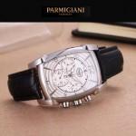 PARMIGIANI-01-10 商務男士兩針半系列閃亮銀配白底進口石英腕錶