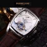 PARMIGIANI-05-4 爆款男士閃亮銀配白底天工甲版設計8N25自動機械腕錶