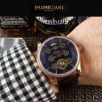 PARMIGIANI-06 潮流男士土豪金配黑底鑲鑽三護橋字面自動機械腕錶