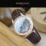PARMIGIANI-07-2 時尚精品男士土豪金兩針設計全自動鏤空機械腕錶