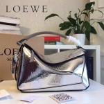 LOEWE 0160-013 專櫃時尚新款Puzzle Bag壓花系列原版小牛皮手提單肩包