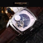 PARMIGIANI-05-2 爆款男士閃亮銀配白底天工甲版設計8N25自動機械腕錶