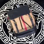 Burberry-0235 專櫃時尚新款男女休閑帆布配牛皮書包