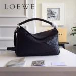 LOEWE 0160-011 專櫃時尚新款Puzzle Bag壓花系列原版小牛皮手提單肩包