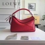 LOEWE 0160-010 專櫃時尚新款Puzzle Bag壓花系列原版小牛皮手提單肩包