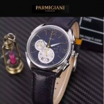 PARMIGIANI-08-2 新款Tonda Metrographe閃亮銀配黑色多功能計時進口石英腕錶